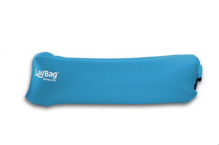 Luftsofa gefalltet blau outdoor
