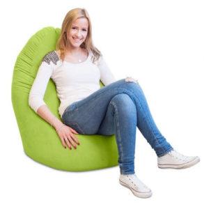 Lumaland Luxury XL PLUS Sitzsack sitzen