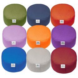 Rondo-Kissen - Sheela - verschiedene Farben - Klassisches Yoga Meditationskissen und Yogakissen