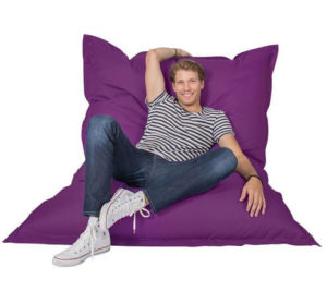 Lumaland Luxury Riesensitzsack XXL Sitzsack 380l Indoor Outdoor gemütlich