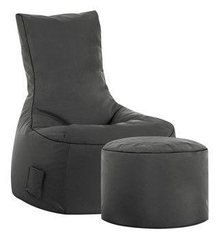 Sitzsack Set Scuba Swing und Hocker schwarz