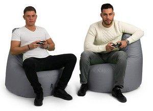 BuBiBag Gamer Sitzsack Anthrazit für gemeinsame Spielrunden